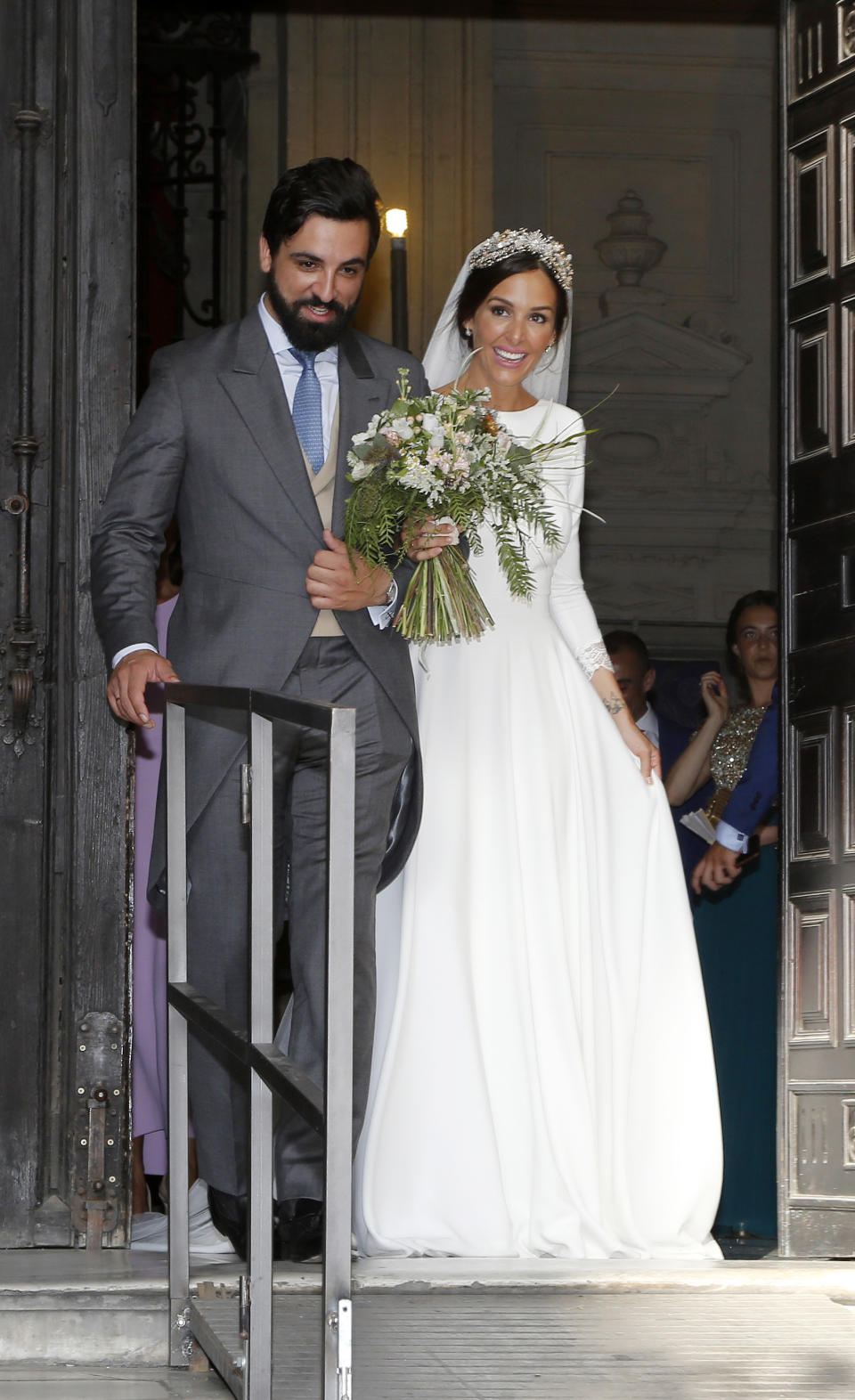 SEVILLE, SPAIN - JUNE 29:  Rocío Osorno wedding at at Seville's Cathedral on June 29, 2019 in Seville, Spain. (Photo by Europa Press Entertainment/Europa Press via Getty Images)