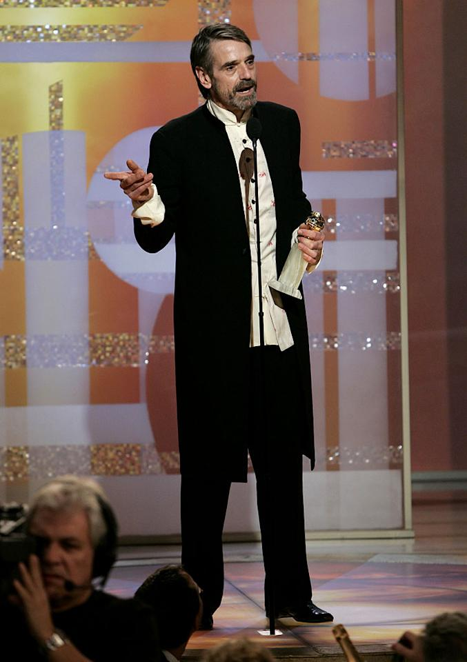 "Jeremy Irons at <a href=""/the-64th-annual-golden-globe-awards/show/40075"">the 64th annual Golden Globe Awards</a>."