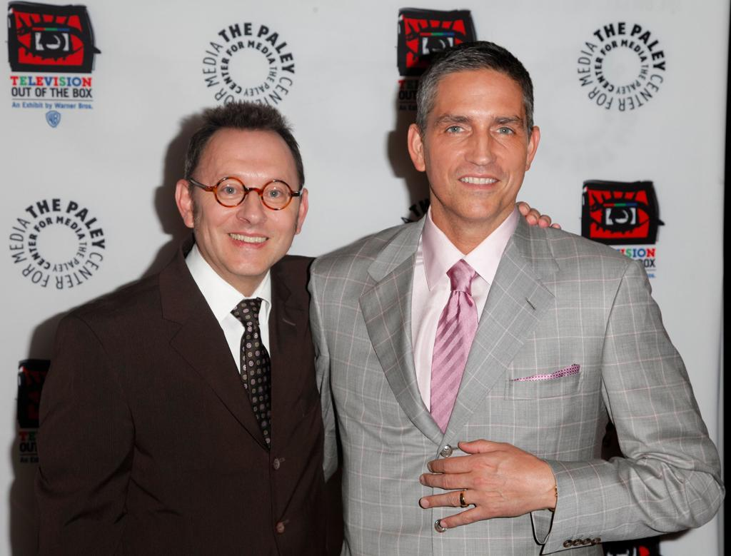 "Michael Emerson and Jim Caviezel attend ""An Evening With CBS' '<a target=""_blank"" href=""http://tv.yahoo.com/person-of-interest/show/47405"">Person of Interest</a>'"" at The Paley Center for Media on May 1, 2012 in Beverly Hills, California."