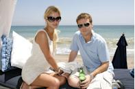 <p>Nicky Hilton and Kevin Connolly on the beach in Malibu, California.</p><p>Other celebrity visitors this year: Reese Witherspoon, Mischa Barton, Tori Spelling.</p>