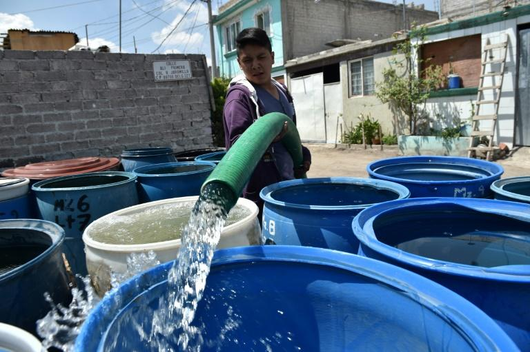 In Iztapalapa, Mexico City residents have to rely on deliveries by tanker trucks for their water supplies
