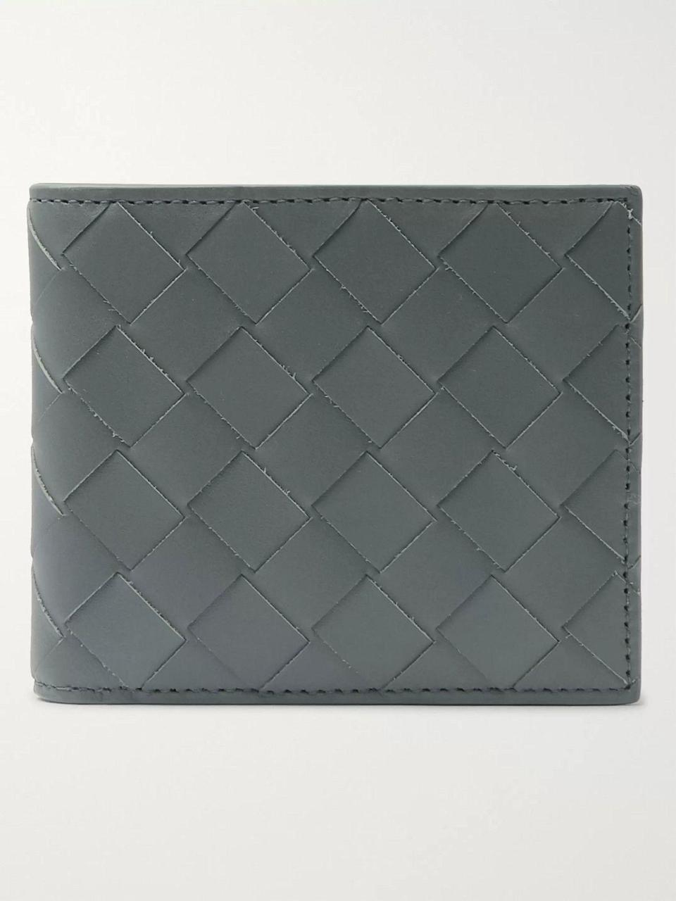 """<p><strong>Bottega Veneta</strong></p><p>mrporter.com</p><p><strong>$500.00</strong></p><p><a href=""""https://go.redirectingat.com?id=74968X1596630&url=https%3A%2F%2Fwww.mrporter.com%2Fen-us%2Fmens%2Fproduct%2Fbottega-veneta%2Faccessories%2Fbillfold-wallets%2Fintrecciato-leather-billfold-wallet%2F10516758728996025&sref=https%3A%2F%2Fwww.esquire.com%2Fstyle%2Fmens-accessories%2Fg35924710%2Fmens-luxury-wallets%2F"""" rel=""""nofollow noopener"""" target=""""_blank"""" data-ylk=""""slk:Shop Now"""" class=""""link rapid-noclick-resp"""">Shop Now</a></p><p>The Italian fashion house's woven intrecciato leather is still one of its most sought-after offerings—and with good reason.</p>"""