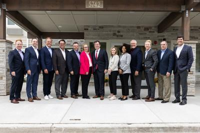 From left to right: David Pepper, Chief Development Officer, Choice Hotels; Patrick Pacious, President and CEO, Choice Hotels; Tim Healy, President and CEO, Holladay Properties; Keith Jones, Vice President, Franchise Development Extended Stay Brands, Choice Hotels; Ron Burgett, Senior Vice President, Extended Stay Development, Choice Hotels; Lisa Adams, Regional Vice President, Extended Stay Development, Choice Hotels; Thomas Hood, Mayor of Gurnee; Anna Scozzafava, Vice President, Extended Stay