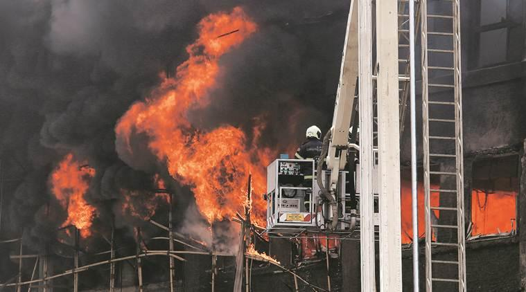 GST Bhavan fire, Goods and Services Tax, Mumbai fire, mumbai news, maharashtra news, indian express news