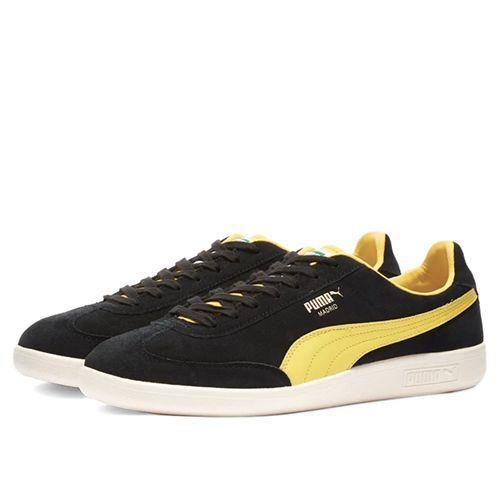 "<p><a class=""link rapid-noclick-resp"" href=""https://www.endclothing.com/gb/puma-madrid-1909-374572-01.html"" rel=""nofollow noopener"" target=""_blank"" data-ylk=""slk:SHOP"">SHOP</a></p><p>And the odes to the mainland don't stop there! First released in the Seventies, the Puma Madrid celebrates the Spanish capital (with a black and yellow colourway?) and a muted suede shape that works just as well on these more pallid shores.</p><p>Madrid 1909 Trainer, £75, <a href=""https://www.endclothing.com/gb/puma-madrid-1909-374572-01.html"" rel=""nofollow noopener"" target=""_blank"" data-ylk=""slk:endclothing.com"" class=""link rapid-noclick-resp"">endclothing.com</a></p>"