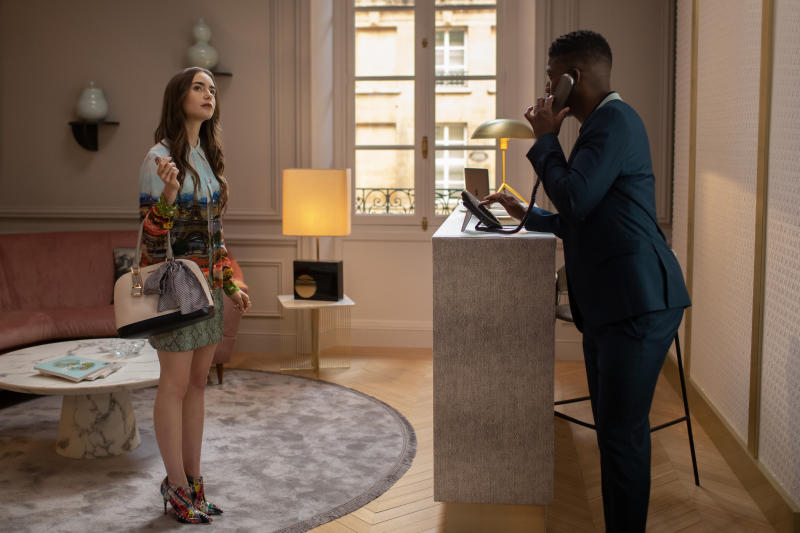 Lily Collins and Samuel Arnold in 'Emily in Paris'Carole Bethuel/Netflix