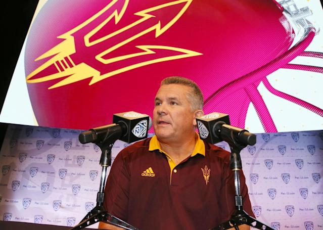 <p><strong>30. Arizona State</strong><br> Trajectory: Down. Underachieving Sun Devils have slipped every year, from 18th in 2012-13 to 27th, then 30th, then 37th, now 43rd this year. </p>
