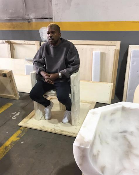 Kanye West was seen out for the first time since his hospitalization as he attend an art exhibit in Los Angeles — details
