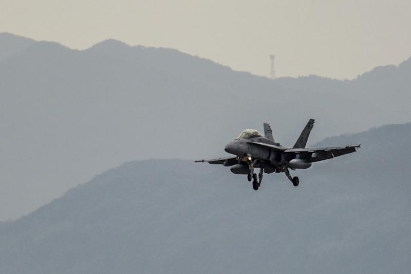 The sound of 103 micro drones launched from an F/A-18 will give you nightmares