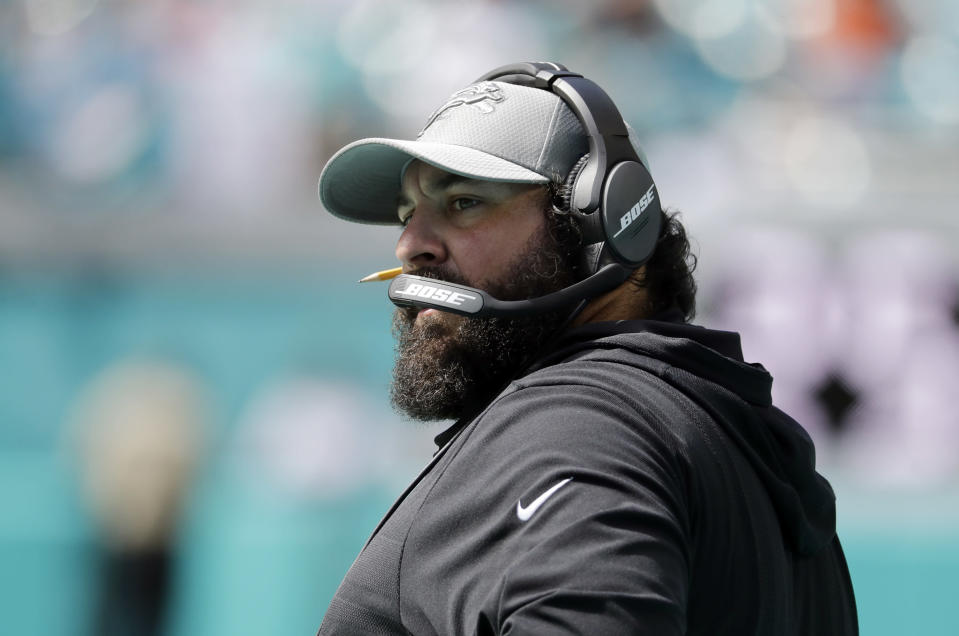 Lions' rookie head coach Matt Patricia had a tense exchange with a reporter on Wednesday. (AP)