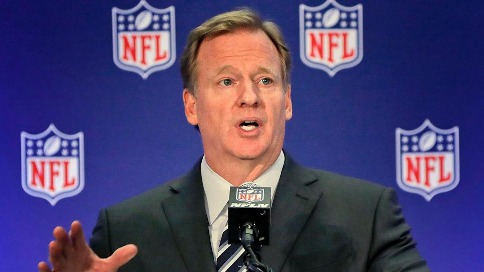 Roger Goodell is navigating difficult straits as NFL commissioner. (AP)