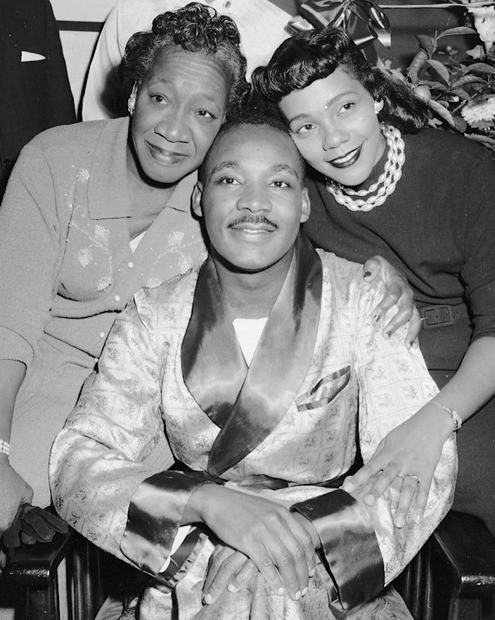 IMAGE: Alberta King, Martin Luther King Jr. and Coretta Scott King (Al Pucci / NY Daily News via Getty Images)