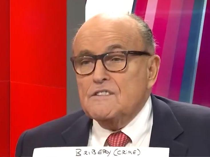 Rudy Giuliani appeared on One America News to produce what he claims is evidence of corruption by Joe Biden: One American News