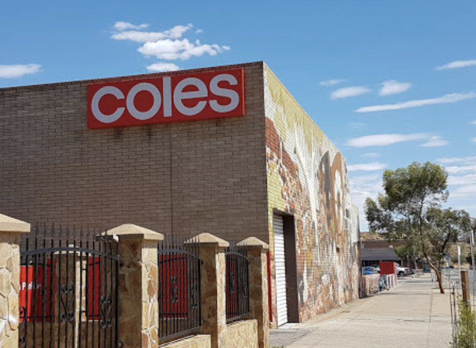 The Coles store in Alice Springs has come under fire over the incident. Source: Google Maps/fermament aimta