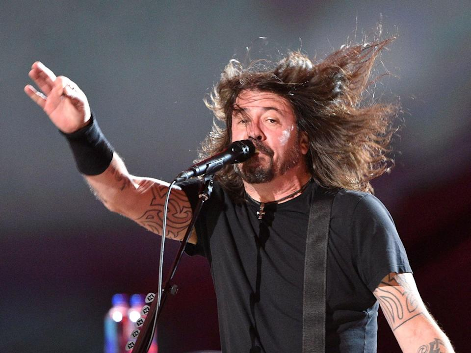 Foo Fighters frontman Dave Grohl in concert (Valerie Macon/Getty Images)