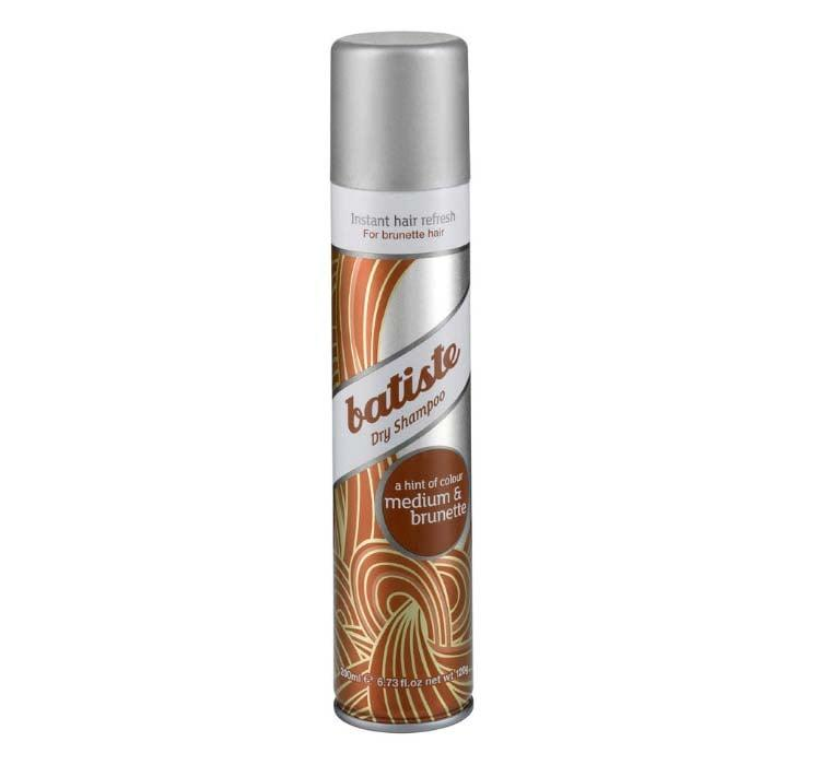 """<p>""""I use this <a href=""""https://www.popsugar.com/buy/Batiste%20Hint%20of%20Color%20Dry%20Shampoo-218046?p_name=Batiste%20Hint%20of%20Color%20Dry%20Shampoo&retailer=dermstore.com&pid=218046&price=9&evar1=bella%3Aus&evar9=43600835&evar98=https%3A%2F%2Fwww.popsugar.com%2Fbeauty%2Fphoto-gallery%2F43600835%2Fimage%2F43600840%2FBatiste-Hint-Color-Dry-Shampoo&list1=hair%2Cbeauty%20products%2Cdry%20shampoo%2Chair%20products%2Chair%20care%2Cbeauty%20shopping%2Cbeauty%20review%2Cbeauty%20product%20review&prop13=mobile&pdata=1"""" rel=""""nofollow"""" data-shoppable-link=""""1"""" target=""""_blank"""" rel=""""nofollow"""" class=""""ga-track"""" data-ga-category=""""Related"""" data-ga-label=""""http://www.dermstore.com/product_Dry+Shampoo+Beautiful+Brunette_36683.htm?lid=2460322"""" data-ga-action=""""In-Line Links"""">Batiste Hint of Color Dry Shampoo</a> ($9) for medium-brown hair because if I use anything that's white, I might as well shower at that point due to the amount I tend to use, which is counterintuitive. I mean, I swear I wash my hair <em>sometimes</em>, but most of the time I'm like, nah."""" - Alessia Santoro, editor, Family</p>"""