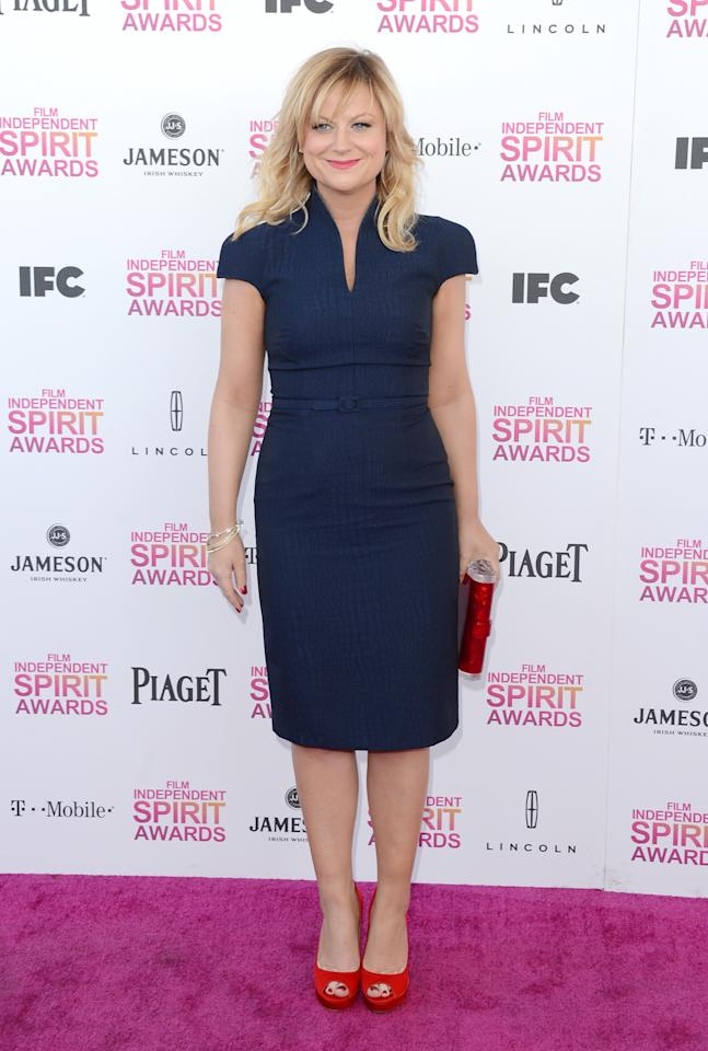 SANTA MONICA, CA - FEBRUARY 23:  Actress Amy Poehler attends the 2013 Film Independent Spirit Awards at Santa Monica Beach on February 23, 2013 in Santa Monica, California.  (Photo by Jason Merritt/Getty Images)