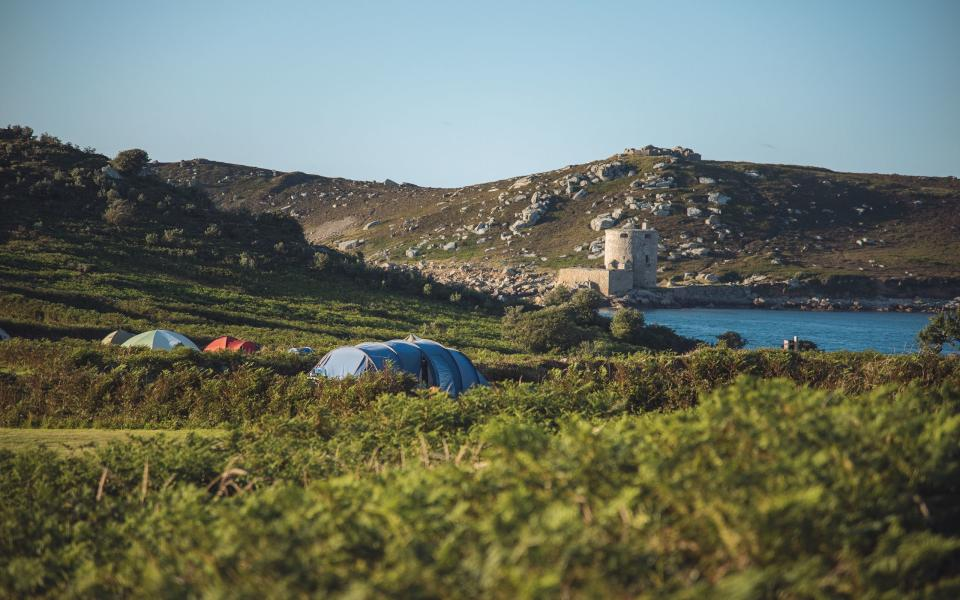 You could pitch up at this idyllic spot on the Isles of Scilly (Image: Bryher Camp Site)