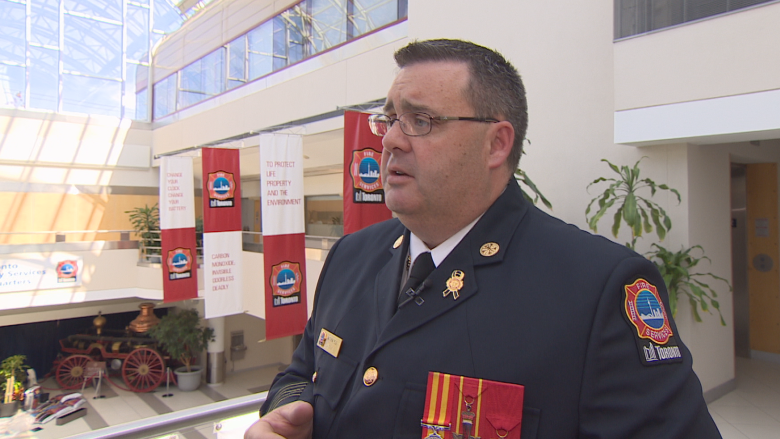 New fire chief Matthew Pegg says rescuing a little girl changed his life