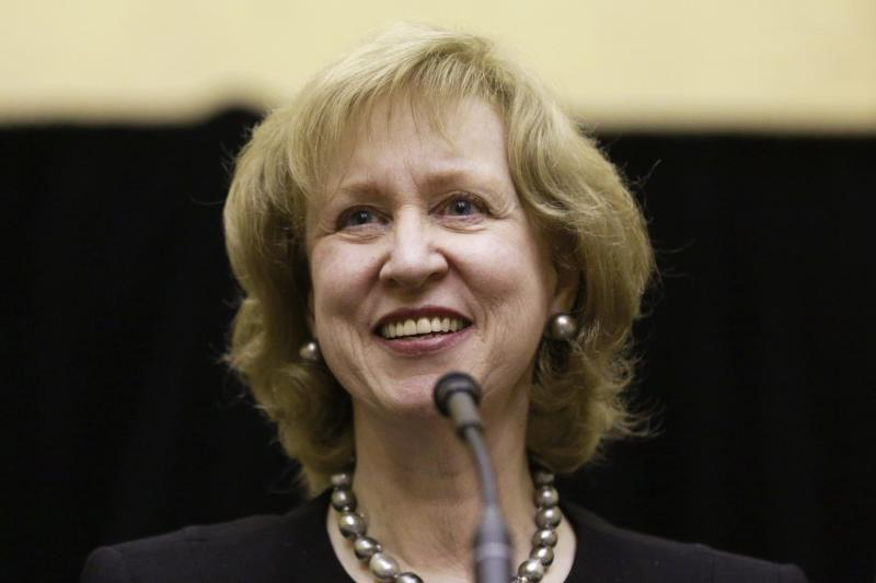 Former Prime Minister Kim Campbell speaks at an event celebrating the 20th anniversary of her time as Canada's first female Prime Minister, in Ottawa
