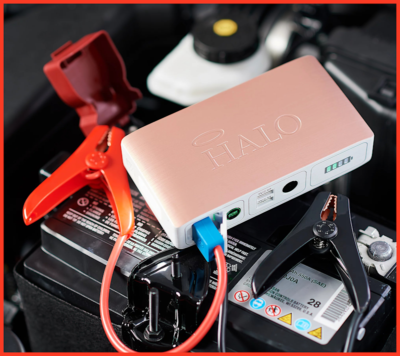 The Halo Bolt Bolt Compact Portable Car Charger is on sale for $75. (Photo: Halo)