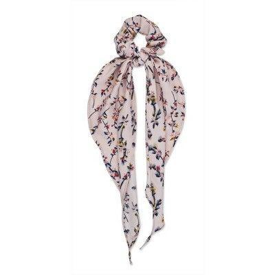 """<h3>Sincerely Jules by Scünci Scrunchie with Tails </h3> <br>Another convertible ribbon scrunchie design, this one has a thicker cotton fabric and a soft pink base with itty-bitty cherry blooms printed throughout.<br><br><strong>Sincerely Jules by Scunci.</strong> Sincerely Jules by Scunci Scrunchie with Tails - Pink Floral - 1ct, $, available at <a href=""""https://go.skimresources.com/?id=30283X879131&url=https%3A%2F%2Fwww.target.com%2Fp%2Fsincerely-jules-by-scunci-scrunchie-with-tails-pink-floral-1ct%2F-%2FA-79438145%23locklink"""" rel=""""nofollow noopener"""" target=""""_blank"""" data-ylk=""""slk:Target"""" class=""""link rapid-noclick-resp"""">Target</a><br>"""
