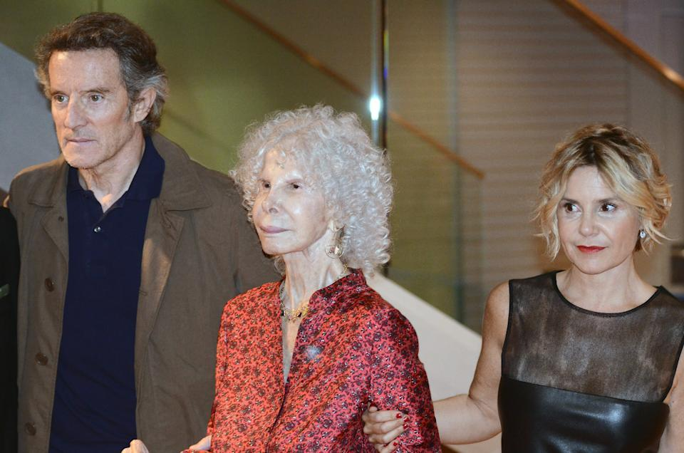 MADRID, SPAIN - OCTOBER 17:  Duchess of Alba Cayetana Fitz-James Stuart (C), Duke of Alba Alfonso Diez and Eugenia Martinez de Irujo (R) attend the 2nd edition of 'Grandes Deseos' Auction for Pequeno Deseo Foundation on October 17, 2013 in Madrid, Spain.  (Photo by Europa Press/Europa Press via Getty Images)