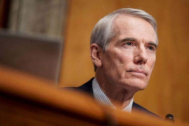 PHOTO: Sen. Rob Portman attends a Senate Homeland Security and Governmental Affairs confirmation hearing on Capitol Hill, Jan. 19, 2021, in Washington, D.C.  (Joshua Roberts/Pool via Getty Images)
