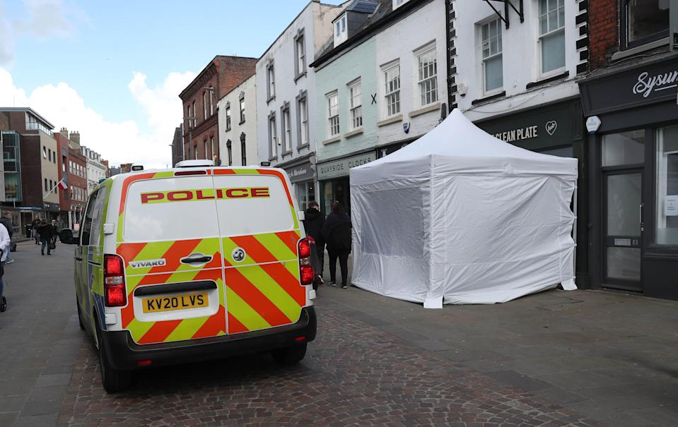 <p>Forensic archaeologists have been undertaking exploratory work at a Gloucester cafe</p> (PA Wire)