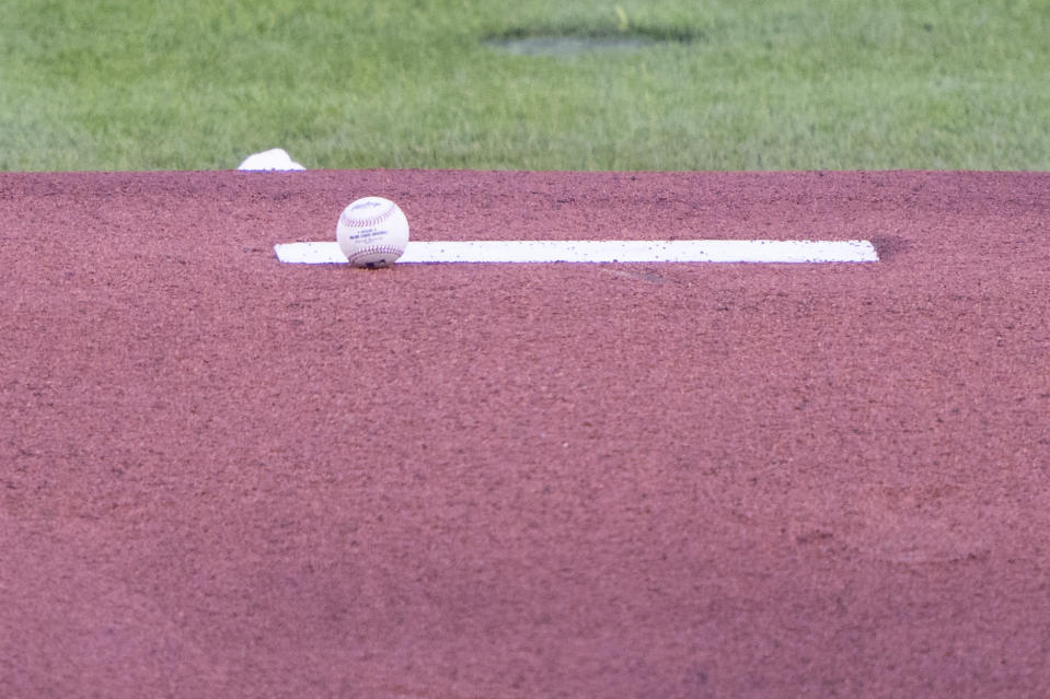 A general view of the pitchers mound