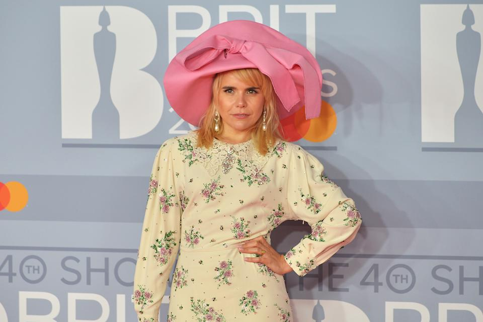 LONDON, ENGLAND - FEBRUARY 18: (EDITORIAL USE ONLY) Paloma Faith attends The BRIT Awards 2020 at The O2 Arena on February 18, 2020 in London, England. (Photo by Jim Dyson/Redferns)