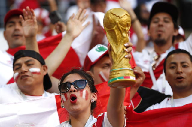 <p>Dreaming big: Peru fans can't wait for their first World Cup match in 36 years. (EFE) </p>