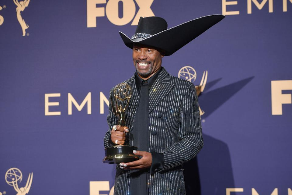 Billy Porter made history at the 2019 Emmy Awards [Photo: Getty]