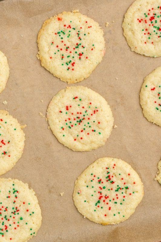 """<p>These buttery biscuits spread a lot when baking, so be sure to place them at least 5-cm apart on the baking tray. </p><p>Get the <a href=""""https://www.delish.com/uk/cooking/recipes/a29063522/3-ingredient-sugar-cookies/"""" rel=""""nofollow noopener"""" target=""""_blank"""" data-ylk=""""slk:3-Ingredient Sugar Biscuits"""" class=""""link rapid-noclick-resp"""">3-Ingredient Sugar Biscuits</a> recipe.</p>"""