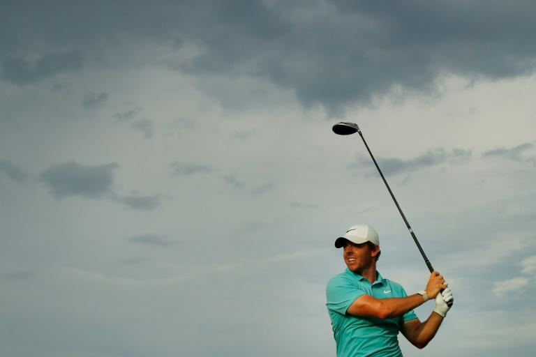 Rory McIlroy of Northern Ireland fired a three-under 67 for a share of second place midway through the US PGA Tour Championship
