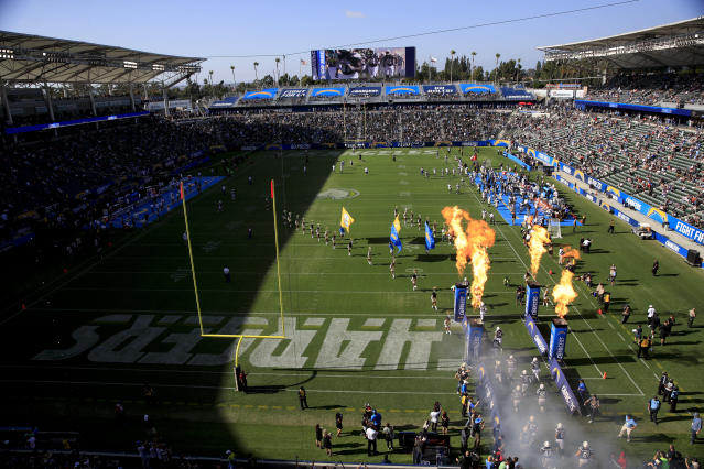 "The <a class=""link rapid-noclick-resp"" href=""/nfl/teams/lac/"" data-ylk=""slk:Los Angeles Chargers"">Los Angeles Chargers</a> are playing in front of small crowds this preseason. (AP)"