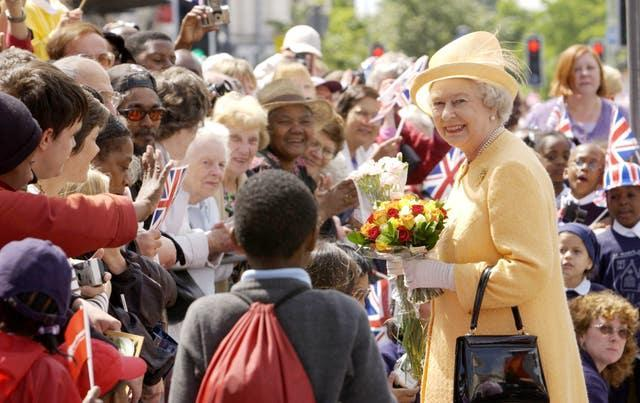 The Queen on a Golden Jubilee visit