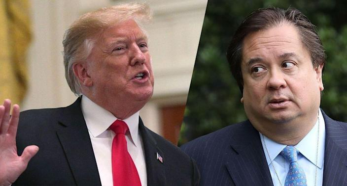 President Trump and George Conway (Photos: Alex Wong/Getty Images, Chip Somodevilla/Getty Images)