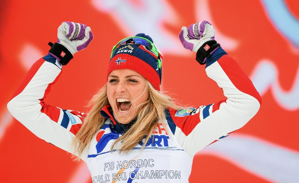 Norway's Therese Johaug tested positive for clostebol during an out-of-competition test in 2016 (AFP Photo/Jonathan Nackstrand)