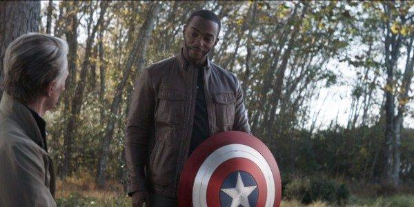 Anthony Mackie at the end of Avengers: Endgame with Captain America's shield (Image by Marvel)