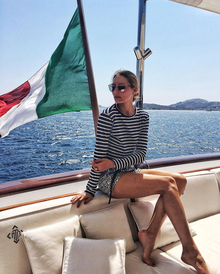 <p>The fashion influencer wears Kule. (Photo: Olivia Palermo/Instagram) </p>