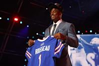 <p>Greg Rousseau is now a Buffalo Bills player, coming out of the University of Miami.</p>