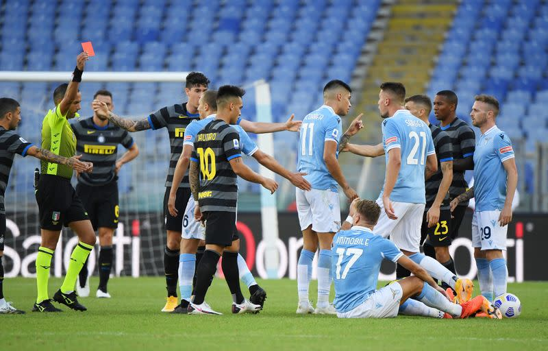 Inter drop first points in bad-tempered draw at Lazio