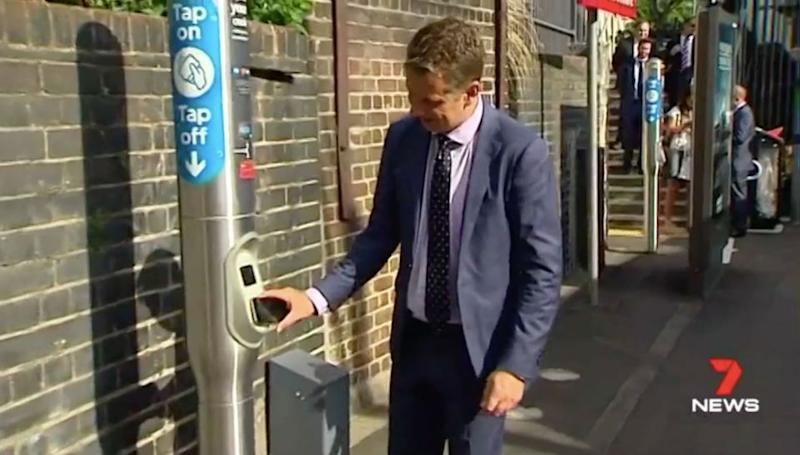 Commuters can use their credit card or smartphone to pay for their fare. Source: 7 News