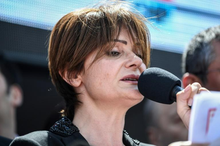 """Republican People's Party Istanbul chief Canan Kaftancioglu said the trial against her was """"intended to punish"""" her but she """"will not back down"""""""