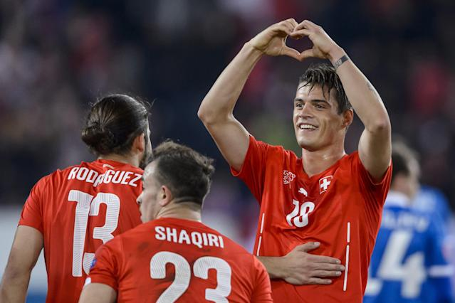 Ricardo Rodriguez, Xherdan Shaqiri and Granit Xhaka will be Switzerland's top three players at the 2018 World Cup. (Getty)