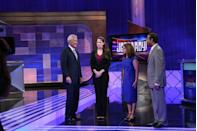 """<p>Alex Trebek was known for his chats with contestants about their hobbies, families and interests — the quirkier the better. Ever wonder how those tidbits come out? Contestants fill out a questionnaire and producers <a href=""""https://better.net/arts-events/movies-tv/jeopardy-heres-actually-happens-behind-scenes/"""" rel=""""nofollow noopener"""" target=""""_blank"""" data-ylk=""""slk:select five conversation starters for the host"""" class=""""link rapid-noclick-resp"""">select five conversation starters for the host</a>. Producers review the options with contestants before the show so that they're prepared, but they never know which topic they're going to be asked about.</p>"""
