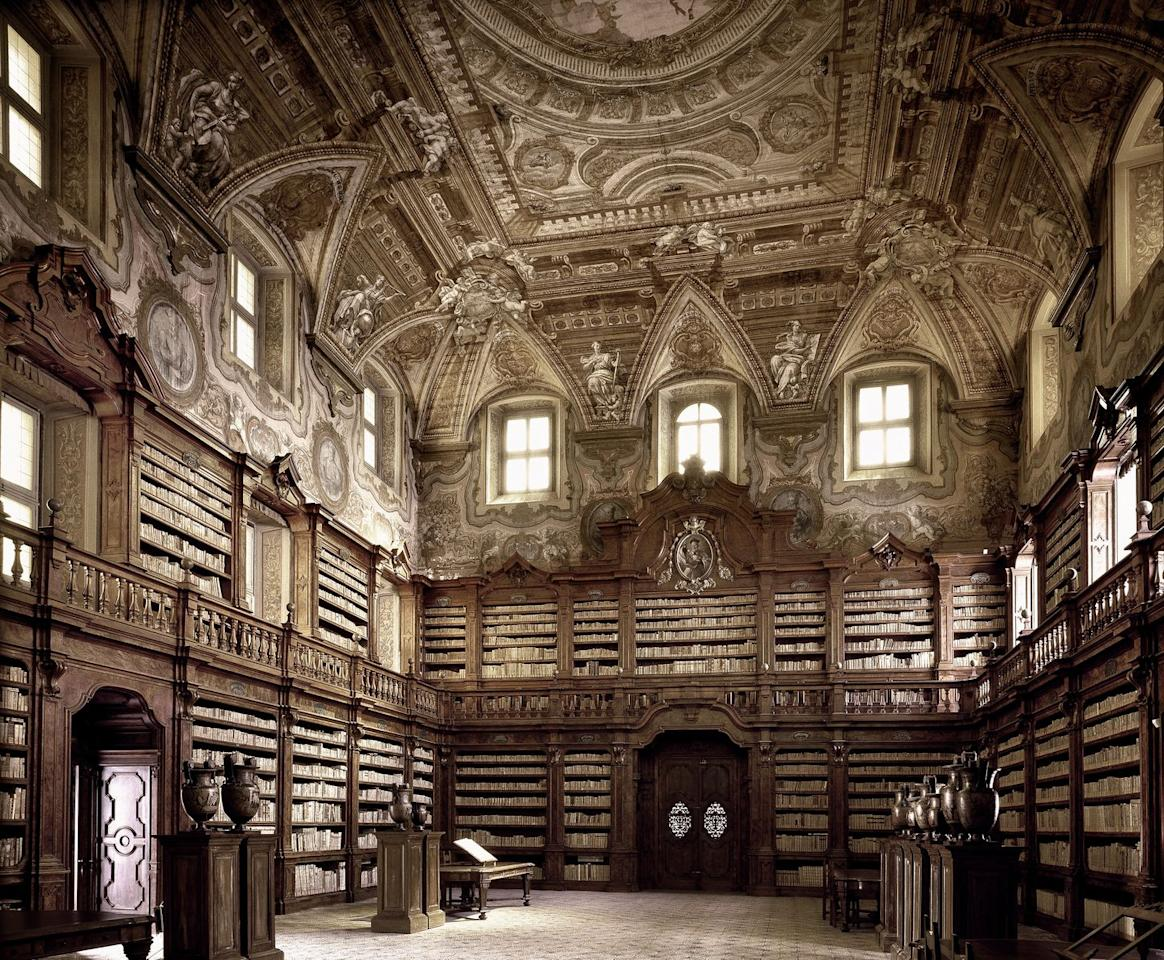 <p>This unique library dates back to 1586 and is considered the oldest in Naples. It houses a rich collection of manuscripts, incunabula, rare editions and old musical scores. Along with the church it's affiliated with, the building is part of a complex that's directly opposite the cathedral in the center of the city. </p>