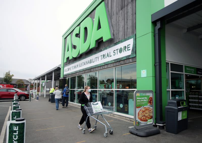 FILE PHOTO: A general view shows the UK supermarket Asda, as the store launches a new sustainability strategy, in Leeds