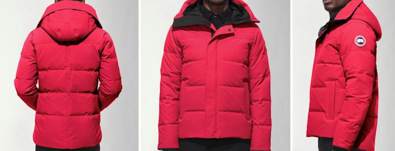 A red Canada Goose Jacket similar to the one worn by Keane Mulready-Woods when he was last seen. Source: PA